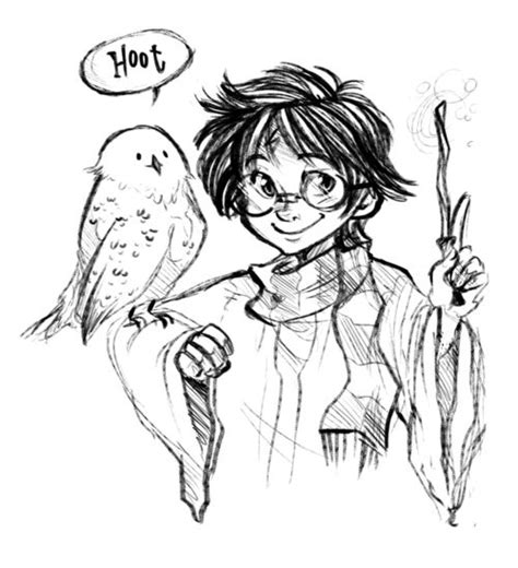harry potter coloring pages hedwig 1000 images about harry potter drawings on
