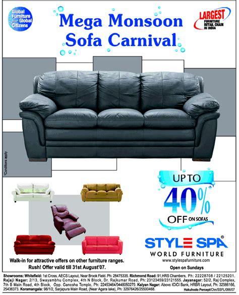 salon aecs layout style spa upto 40 off on sofas bangalore saleraja