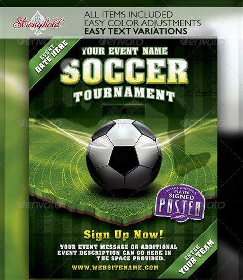 free soccer flyer template soccer tournament poster www pixshark images