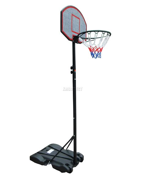 Standing Tabung 1 Set foxhunter size basketball net hoop backboard adjustable stand set portable ebay