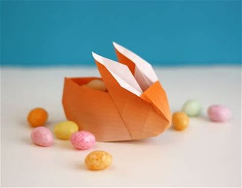 Easy Origami Easter Egg - origami bunny favor boxes how about orange