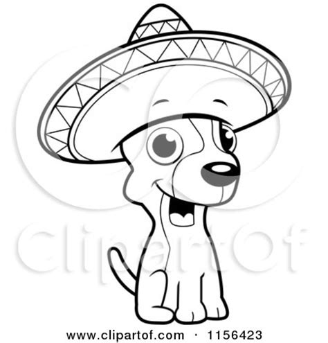 cute chihuahua coloring pages royalty free rf clipart illustration of a cute little