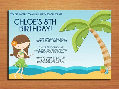 stirring beach birthday party invitations theruntime com