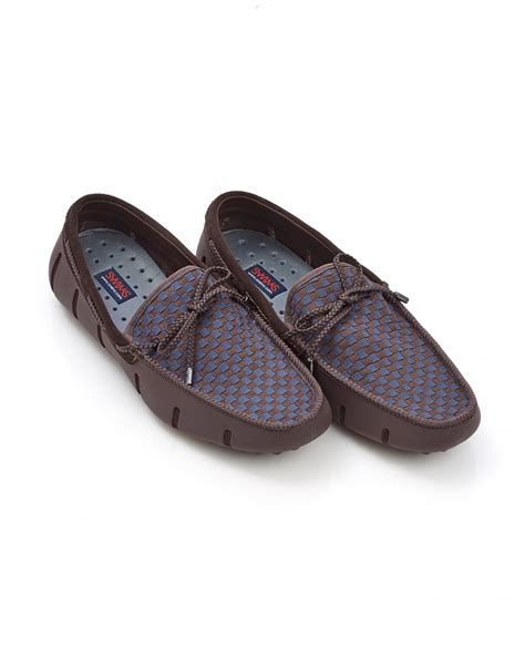 loafer shoes images swims mens lace woven brown navy loafer shoes