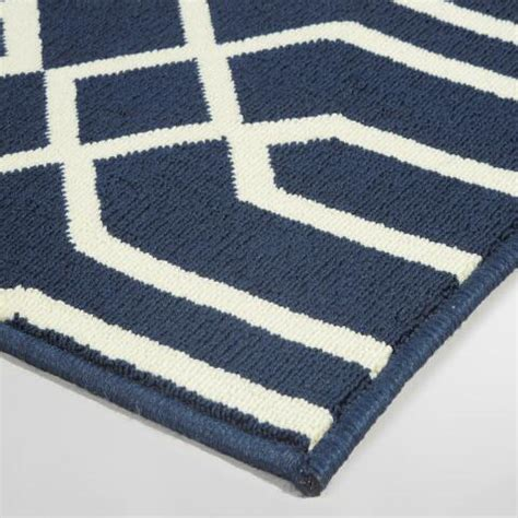 Navy Blue Cortes Indoor Outdoor Area Rug World Market Navy Blue Outdoor Rug