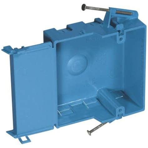 home electric box carlon 1 18 cu in shallow new work electrical box sno18 6r the home depot