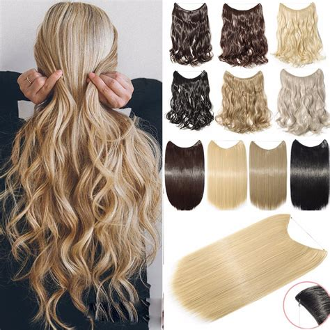 secret extensions for curly hair amazon com sarla halo synthetic hair extension flip in