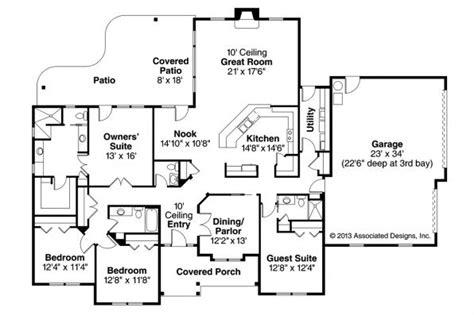 prairie style floor plans prairie style house plans fall creek 30 755 associated