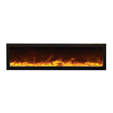 Slim Electric Fireplace Insert by Amantii Indoor Panorama Series Slim Electric Fireplace 60