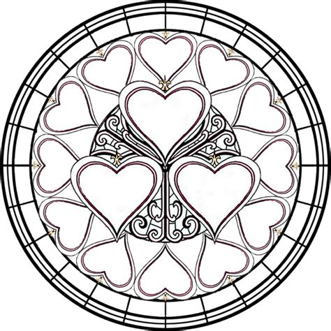 Stained Glass Coloring Pages 4 Stained Glass Coloring Pages