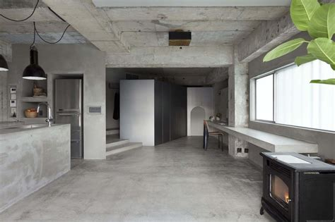 concrete kitchen design interior design a concrete apartment