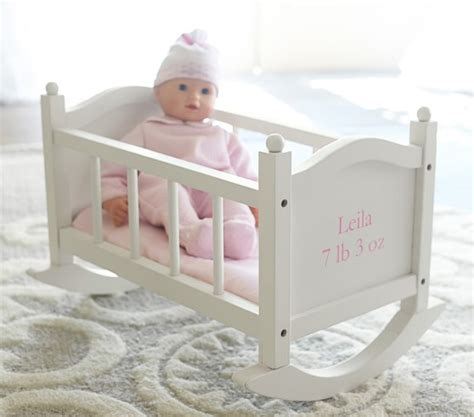 crib for baby doll baby doll cradle pottery barn