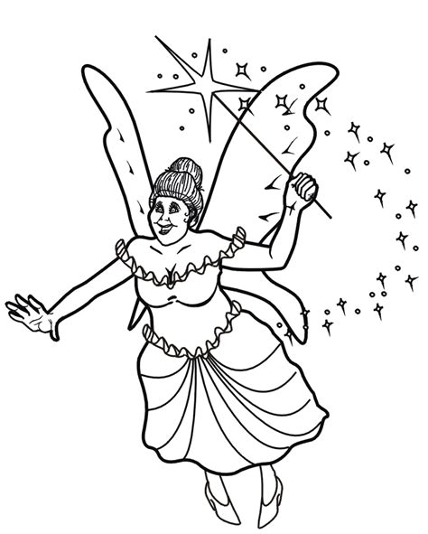 free coloring pages of fairy face