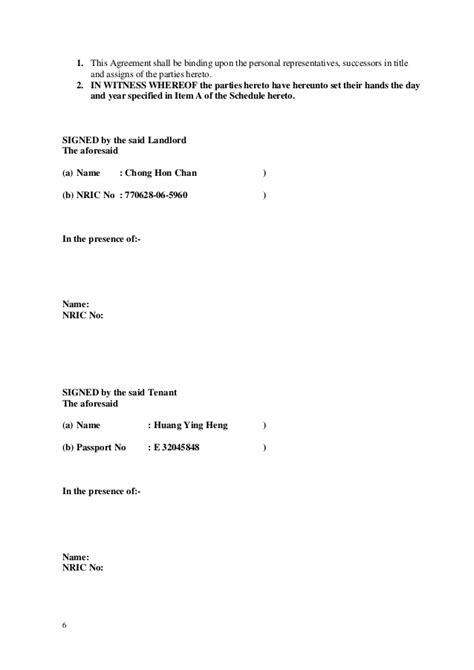 Tenancy Agreement Termination Letter Sle Malaysia Amended Tenancy Agreement 2013