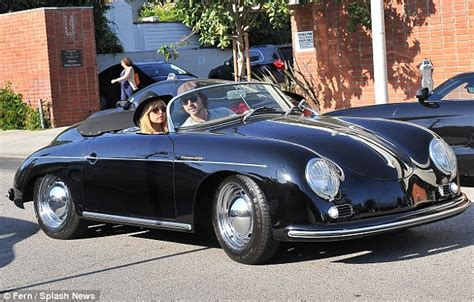 classic porsche convertible rachel zoe matches her to her vintage porsche as