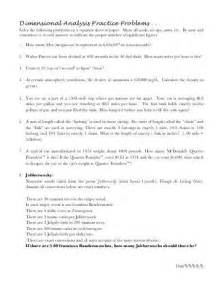 pictures dimensional analysis worksheet with answer key