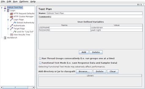 github login tutorial coder s brain jmeter github login test plan