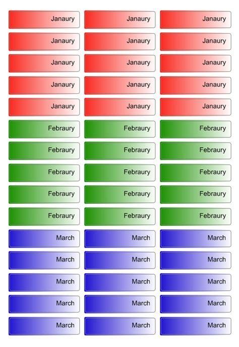 file folder label templates  create office folder labels
