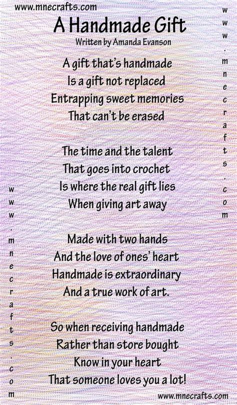 poems about knitting manda s crochet patterns a handmade gift a poem
