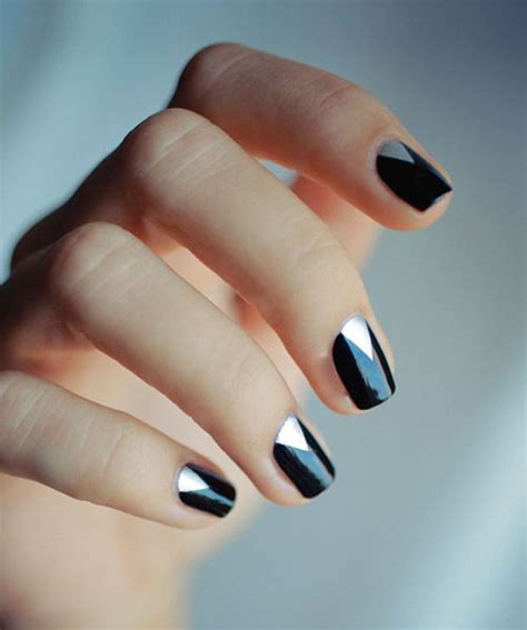 Easy Nail Art Black And Silver | black and silver nail designs ideas and 20 photos