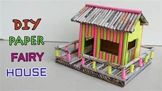 Crafts To Make With Paper - how to make paper house newspaper crafts