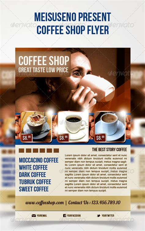 graphicriver flyer psd graphicriver coffee shop flyer
