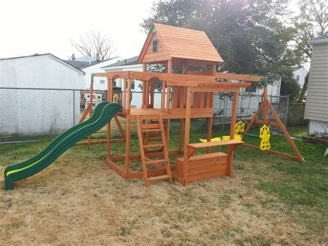 backyard discovery monticello cedar swing set backyard discovery monticello swingset install nj the