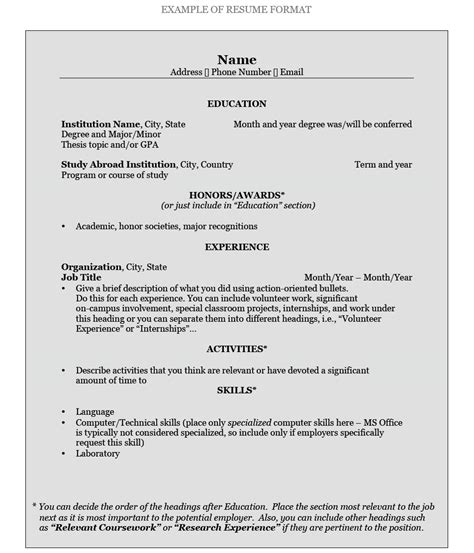 How To Name A Resume by How To Write A Resume Pomona College In Claremont