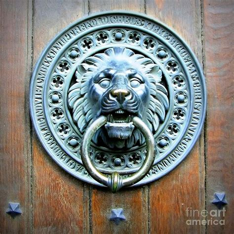 Lion Curtains Lion Door Knocker In Norway Photograph By Carol Groenen