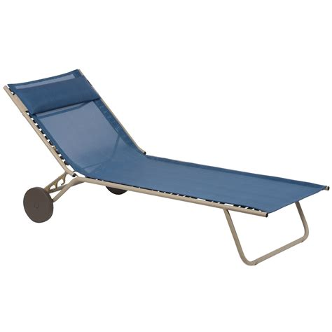 foldable chaise lounge lafuma miami sun bed folding chaise lounge chair save 64