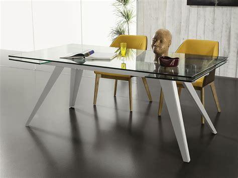 tavoli da pranzo in vetro allungabili tavolo allungabile in vetro con gambe in metallo track