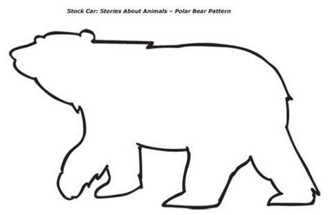bear pattern for kindergarten bear template polar bear pattern one polar bear on