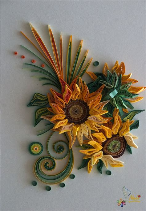 quilling sunflower tutorial sunflowers quilling inspirations pinterest