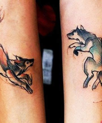 wolf tattoo designs for couples pinterest the world s catalog of ideas