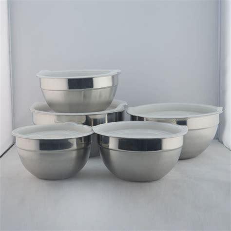 Mangkok Stainless stainless steel bowl 5pcs stainless steel salad bowl set with lid buy stainless steel bowl