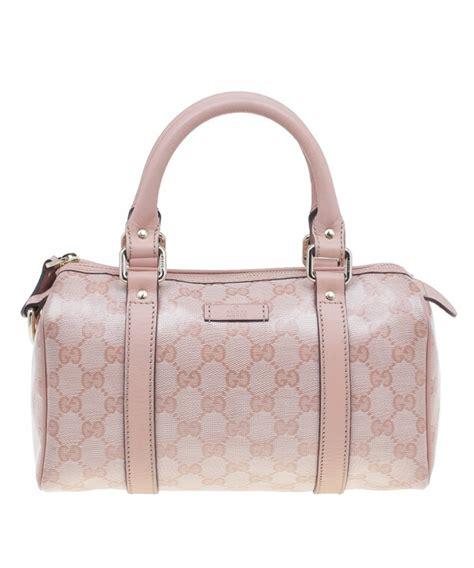 Tas Gucci Boston 3 gucci roze kleine boston tas in guccissima leder artlistings
