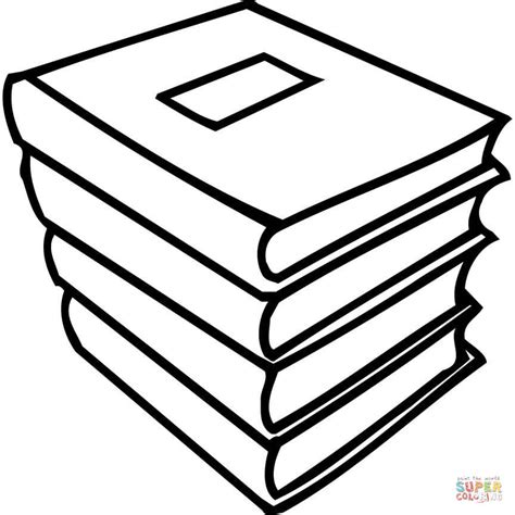 coloring book page a pile of books coloring page free printable coloring pages