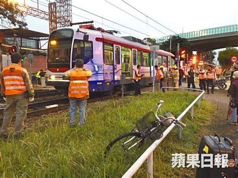 when the road with a light rail vehicle you tuen mun light rail kills elderly seriously