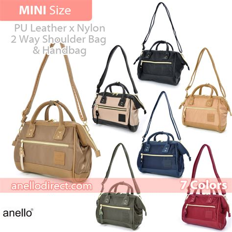 Anello Japan 2way Backpack Shoulder Bag Ori anello pu leather x 2 way shoulder bag mini size at h1241