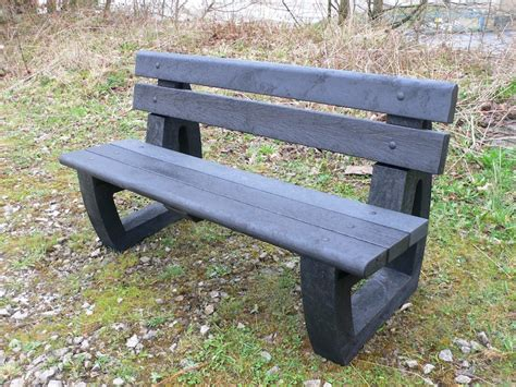 recycled plastic bench bradley garden park bench bullnose version recycled