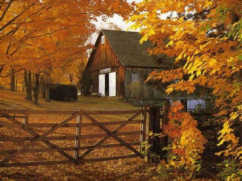 Fall Farmhouse Wallpaper Country Desktop Backgrounds Wallpaper Cave