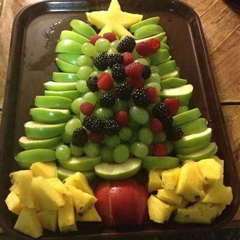 christmas tree fruit platter christmas pinterest