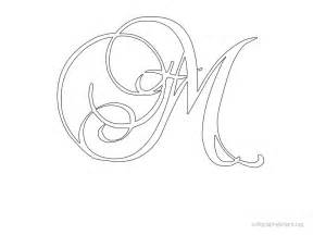 fancy letter templates fancy cursive letter m imgbucket list in pictures