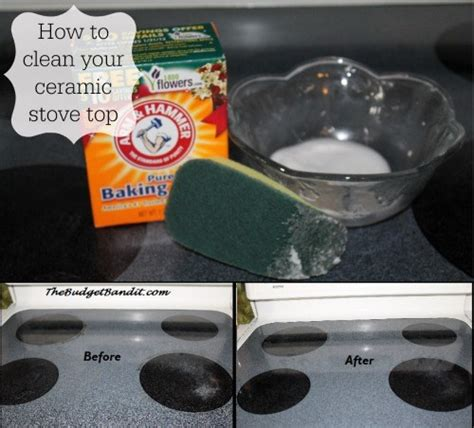diy how to clean your ceramic stove top with just 1 household ingredient eco friendly