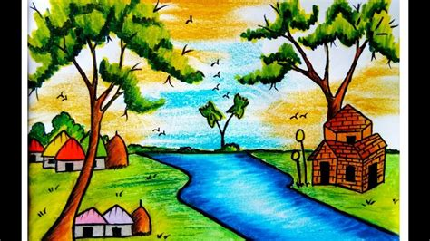 How To Draw Nature Scenery