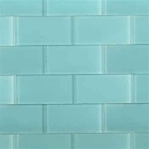 Decorative Tiles For Kitchen Backsplash shop for loft turquoise frosted 3 x 6 glass tiles at
