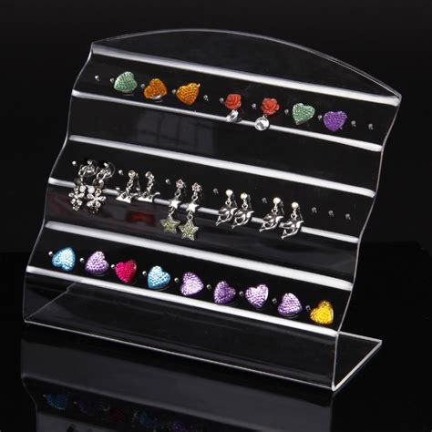 Wholesale Display Racks by Wholesale 2pcs Clear View Acrylic Earring Ear Stud Display Stand Holder Jewelry Display Rack