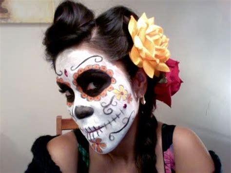 tutorial makeup catrina dia de los muertos makeup hair tutorial youtube