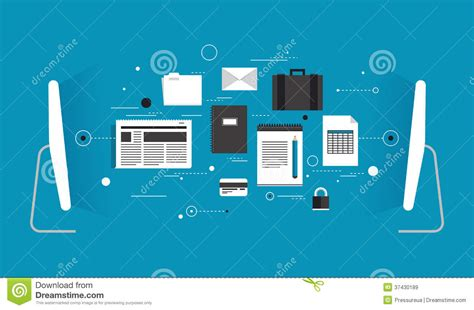 data transfer flat illustration stock vector image