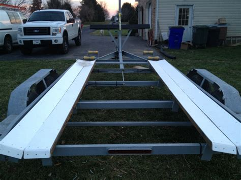 boat trailer roller covers my homemade bunk covering solution the hull truth
